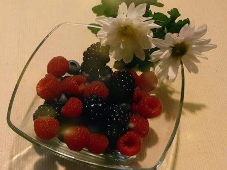 ovocie maliny cucoriedky cernice