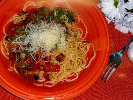 spagety s rajcinami