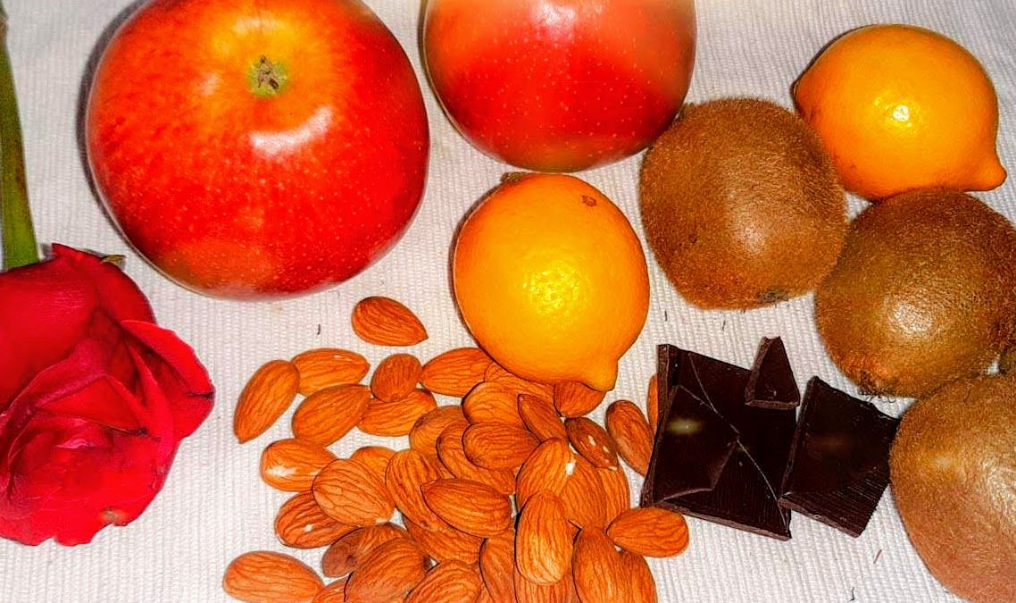 jablká kivi citróny mandle
