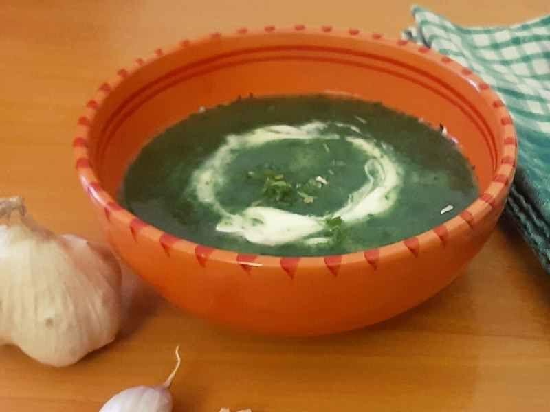 zemiakovo-spenatova polievka