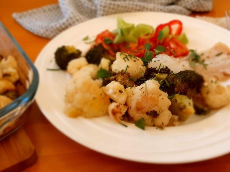 filet s karfiolom a brokolicou
